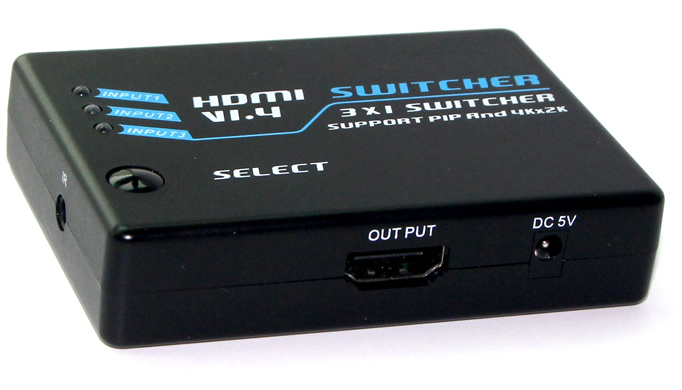 3D Supported 4k*2k 3X1 HDMI Switch (HDMI V1.4)