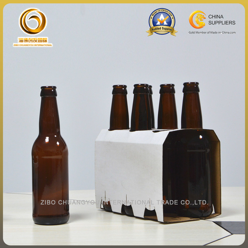 Wholesale Brown Crown Top 330ml Beer Glass Bottle (040)