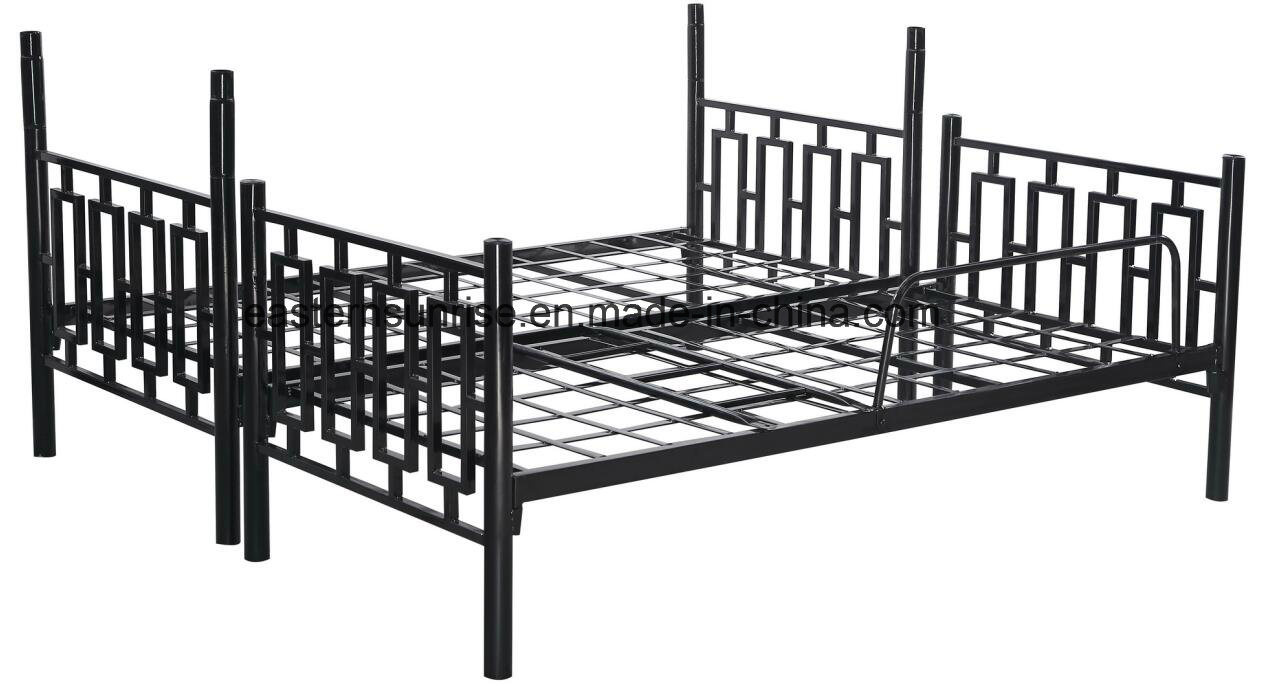 Steel double deck bed - Army Staff Double Decker Layer Steel Iron Metal Bunk Bed