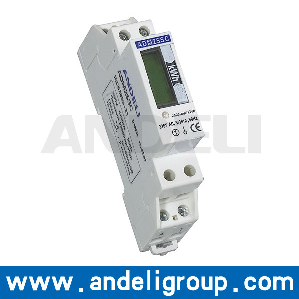 Single Phase DIN-Rail Watt-Hour Meter (ADM25SC)