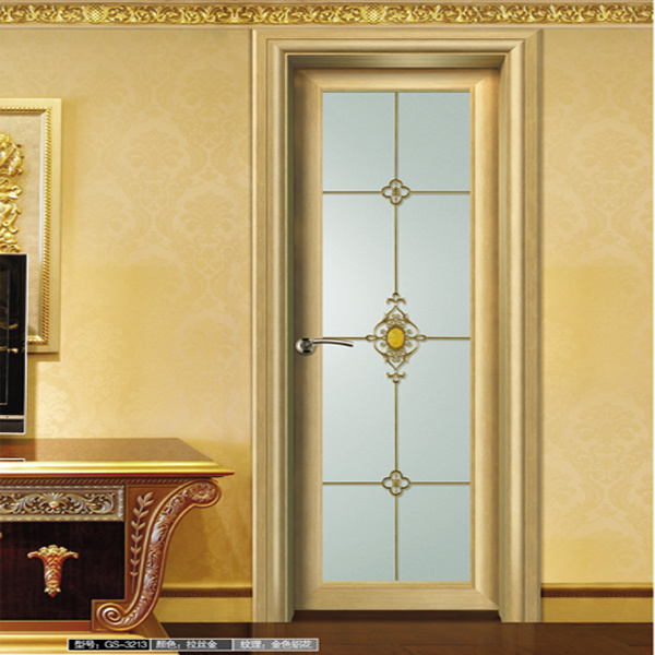 Bathroom Door with Champagne Color