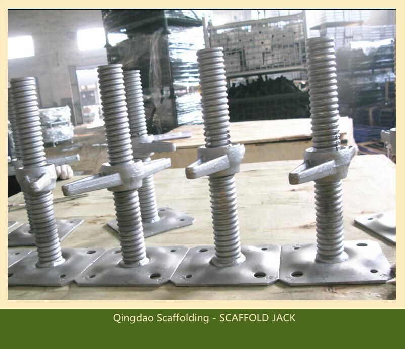 Adjustable Screw Solid/Hollow U-Head Galvanised Jack Base /Jack Scaffold