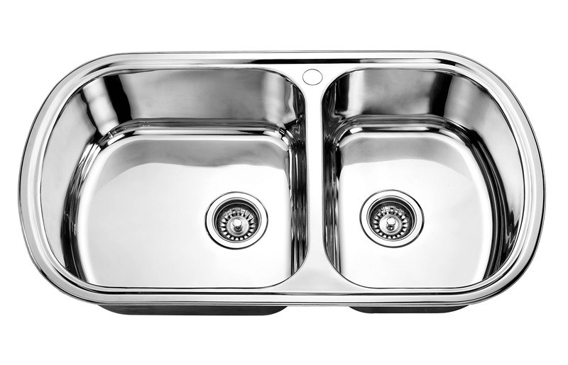 China Double Tank Stainless Steel Kitchen Wash Basin Sink (FSE-SS-8949 ...