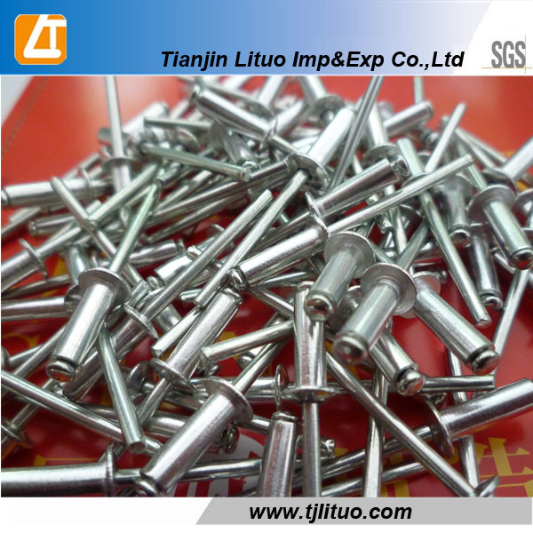 Open Type Aluminum Blind Rivet with Domed Head