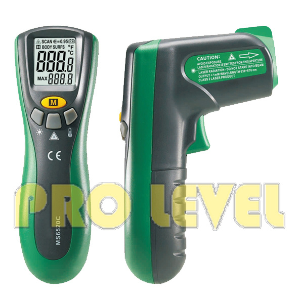 Professional Accurate Non-Contact Infrared Thermometer (MS6520C)