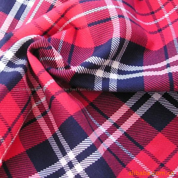 Cotton Printed Woven Dyed Shirt Sleepwear Flannel Fabric