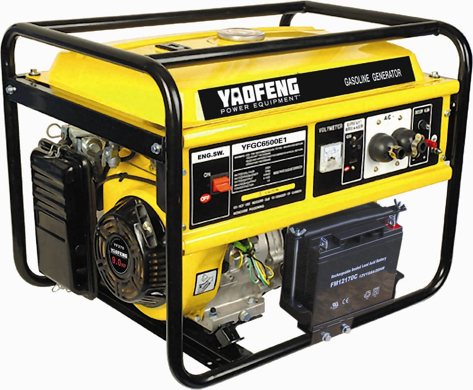 5000 Watts Portable Power Gasoline Generator with EPA, Carb, CE, Soncap Certificate (YFGC6500E1)