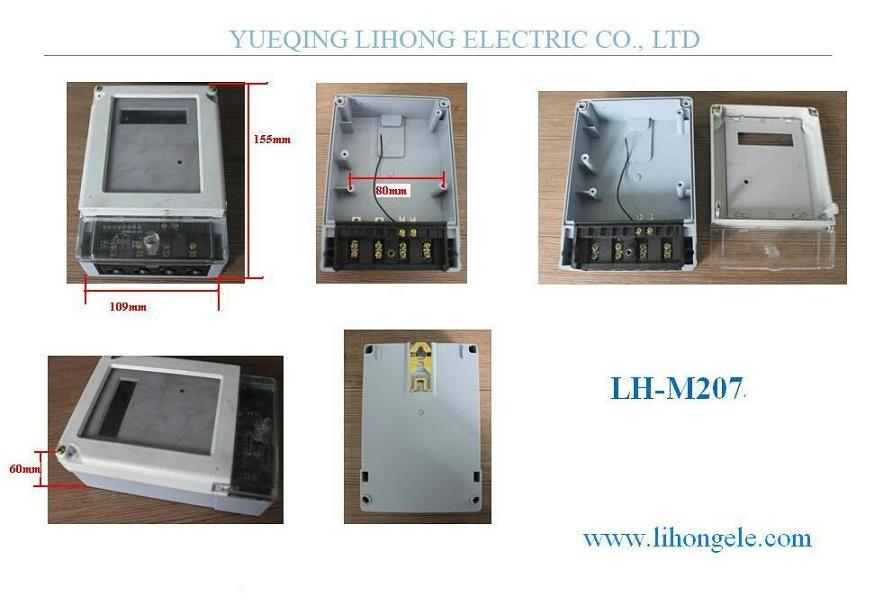 Single Phase Energy Meter Casing, Electricity Meter Case (LH-M207)