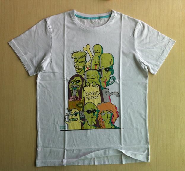 China silk screen print t shirt fashion t shirt custom t for Silk screen t shirt