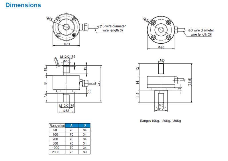 Ns - Wl5 Column Type Torque Sensor Load Cell