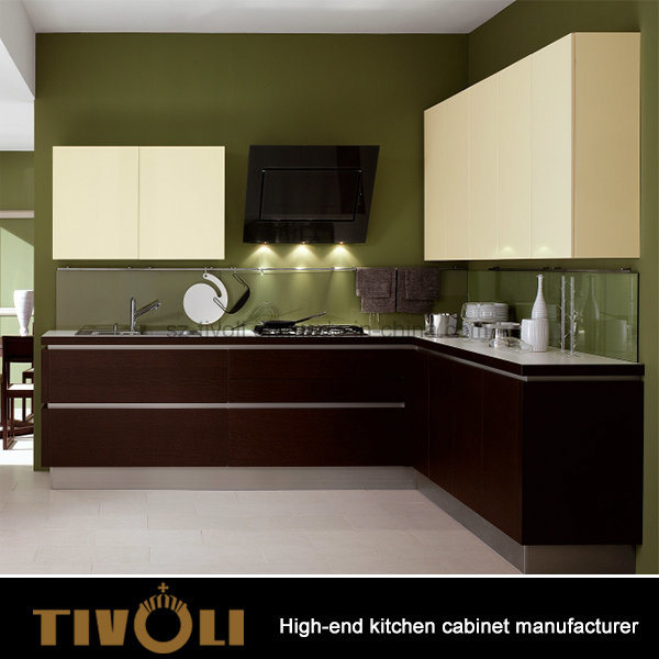 Luxury European design High End White Kitchen Cabinet with Finger Pull Design Tivo-0031h