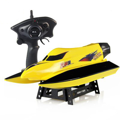 147959-2.4G 4CH High Speed 20km-H RC Boat - Yellow
