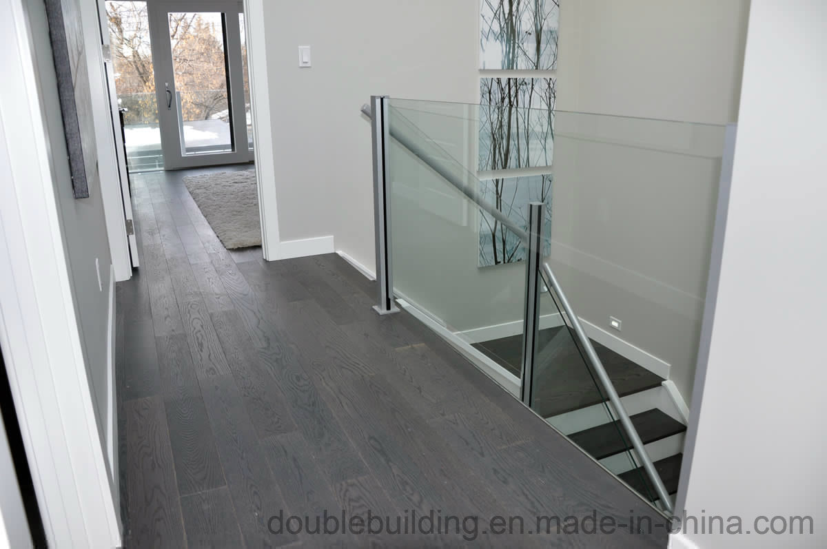 Aluminum Frameless Glass Balustrade Aluminum Slot Post