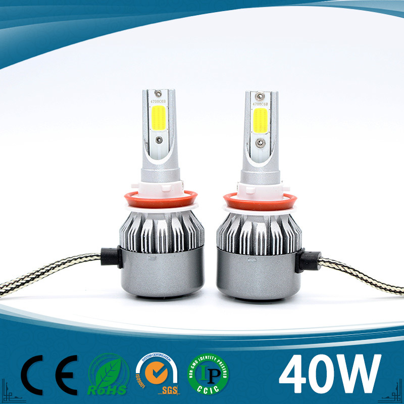 Highest Quality Car LED Headlight H4 H7 9005 9006 H13 H1 H3 with Chips 4500lm