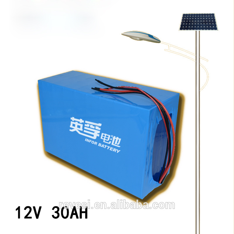 Solar Street Light Deep Cycle 12V 30ah Lithium LiFePO4 Battery
