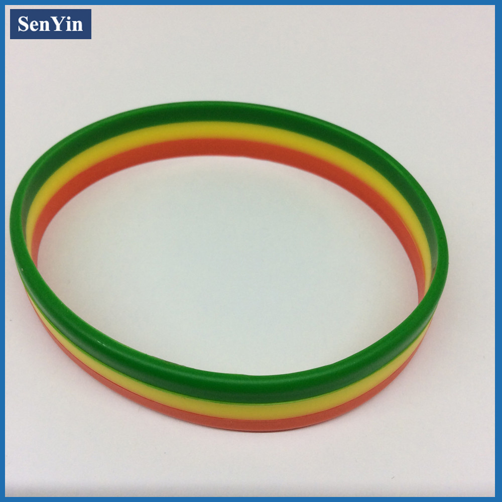 Color Printed Promotional Gift Silicone Fashion Bracelet