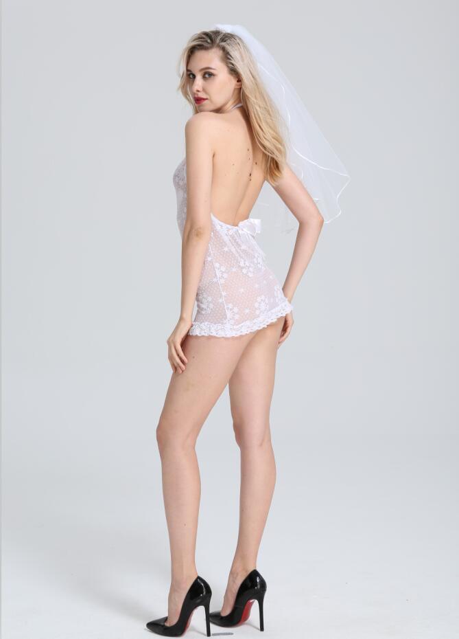 Ladies White Sexy Bridal Wear Bride Lingerie Wedding Night Underwear