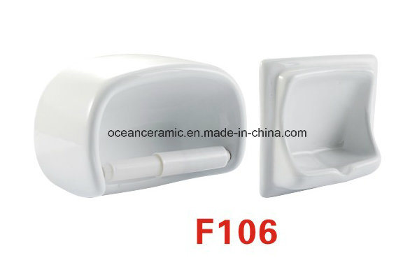 F107 Ceramic Soap Dish, Toilet Paper Holder, Bathroom Accessories