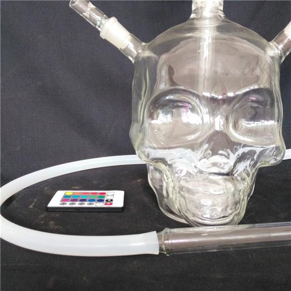 Top Fashion Large Skull Logo Style Glass Hookah
