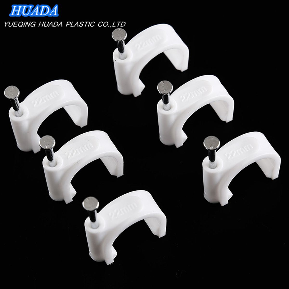 10PCS White Cable Clips Clamp Organizer for RJ45 Cat5e CAT6 Phone Cable Wire
