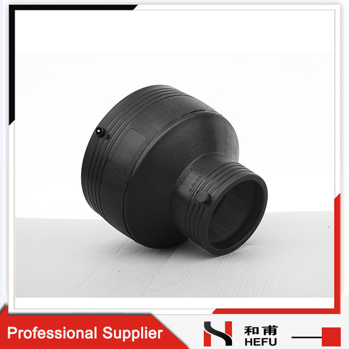 Connector Custom Equal Reducer Electrofusion Straight HDPE Plastic Pipe Fitting