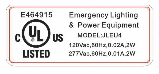 Jleu4 Emergency Lighting, LED Lamp, UL Emergency Light, LED Light