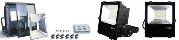 2017 AC85-265V IP65 Outdoor Waterproof Dustproof Epistar SMD 10W 20W 30W 50W LED Flood Light Fixture