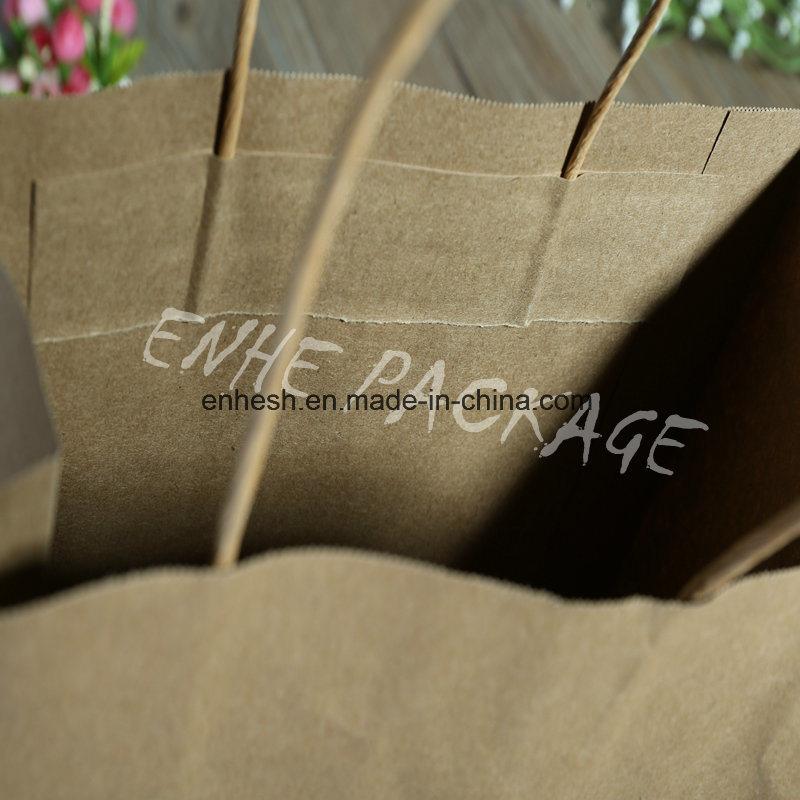 2016 Free Samples China Wholesale Brown Kraft Paper Bag