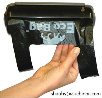 Black Biodegradable HDPE Dog Poop Bags Pet Liners Nappy Bags