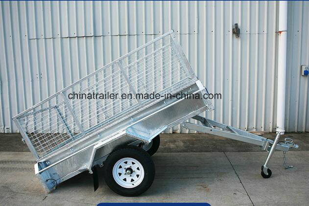 Single Axle Galvanised Utility Trailer with 900mm Cage