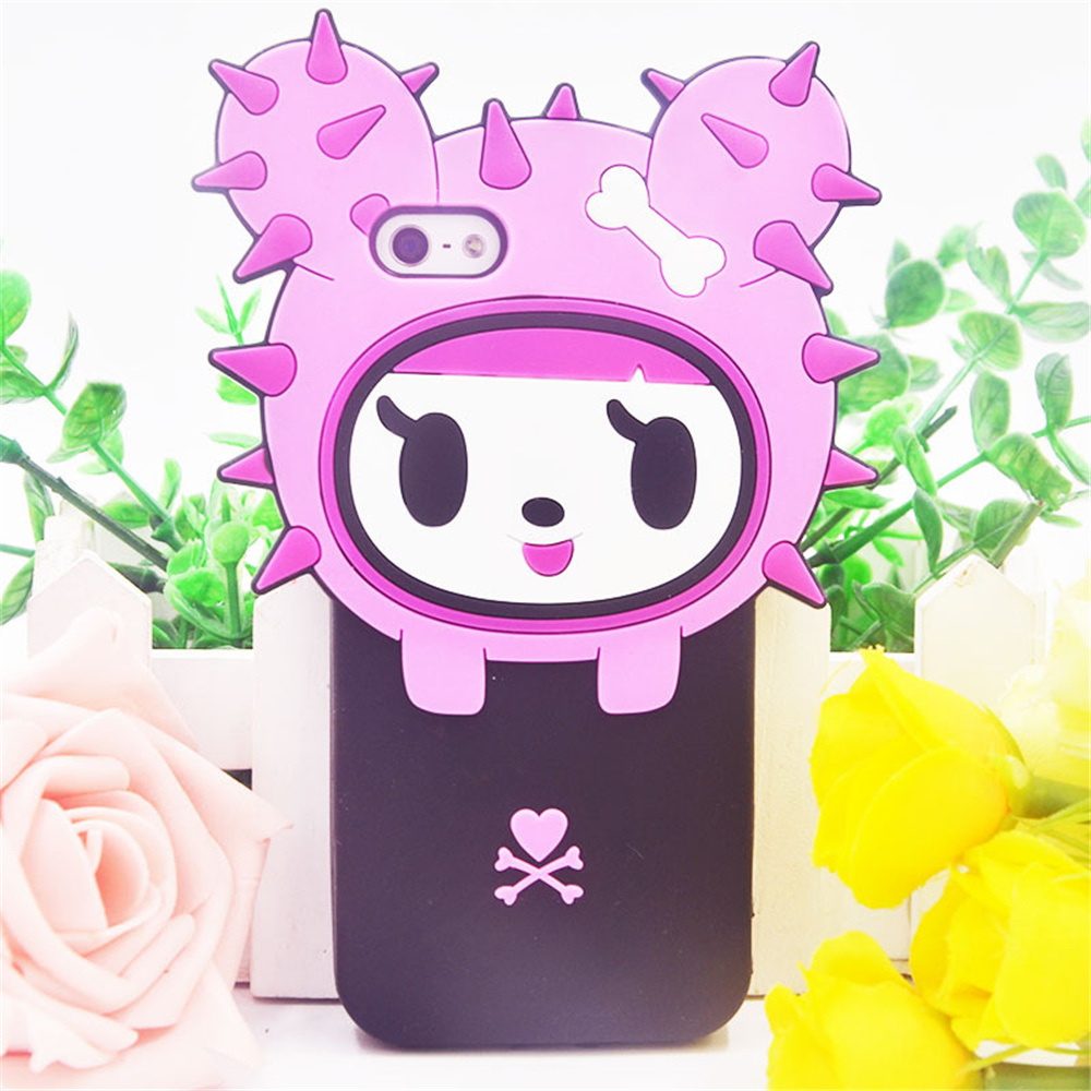 Wholesale Korean Cute Cactus 3D Silicone Phone Cases
