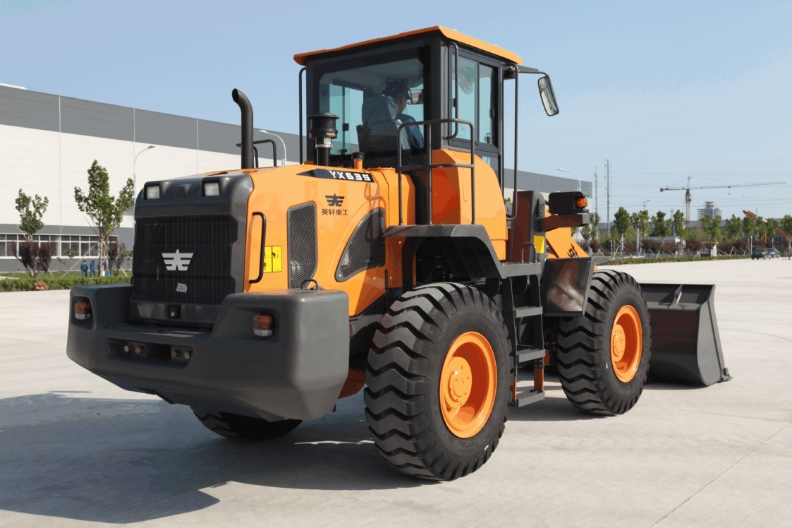 YX635 Ensign Front Wheel Loader with Mechanical Control and 1.8 M3 Bucket for Various Working Conditions