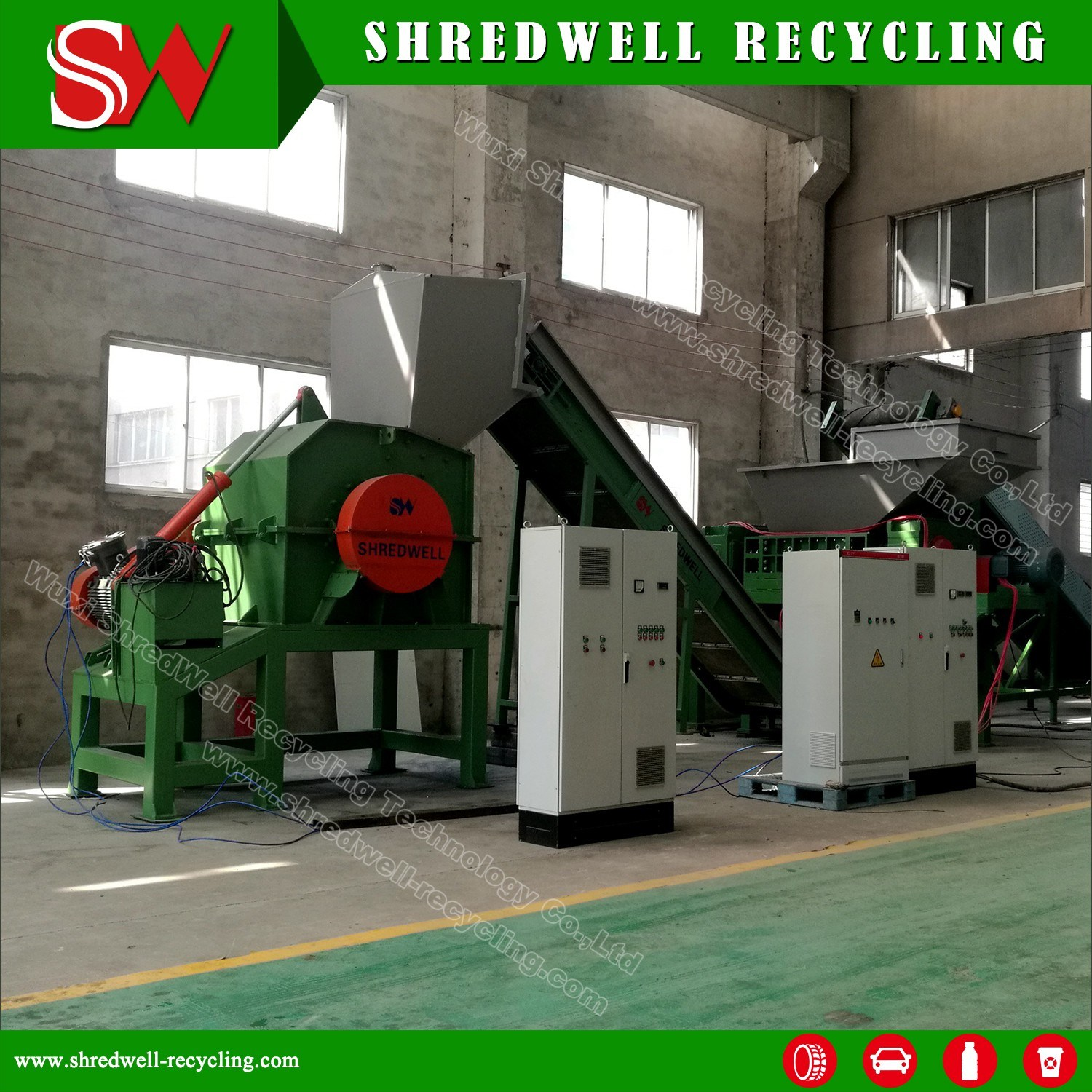 Scrap Metal Recycling Plant for Shredding Waste Metal Oil Drum/Steel Sheet/Automobile Car