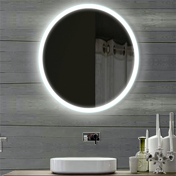 5 Stars Hotel Bathroom Vanity LED Lighted Round Lighting Mirror