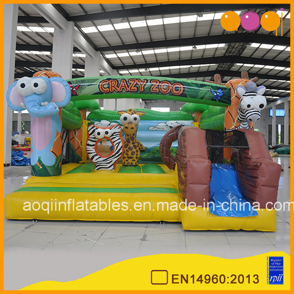 Crazy Zoo Inflatable Bouncer Slide Combo (AQ07175)
