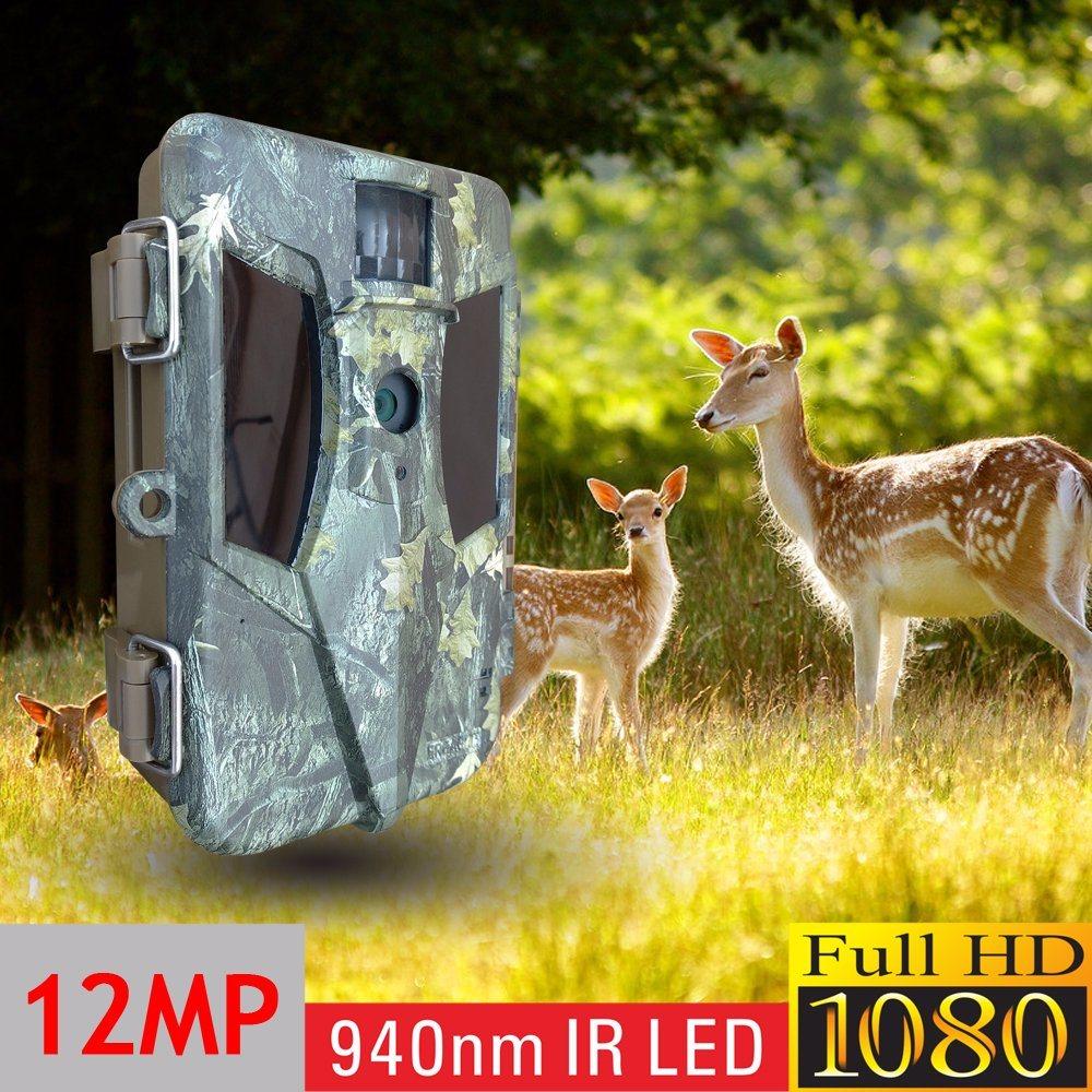 Full HD 1080P IP68 Waterproof IP Hiddentrail Hunting Camera with 12MP Coms Sensor