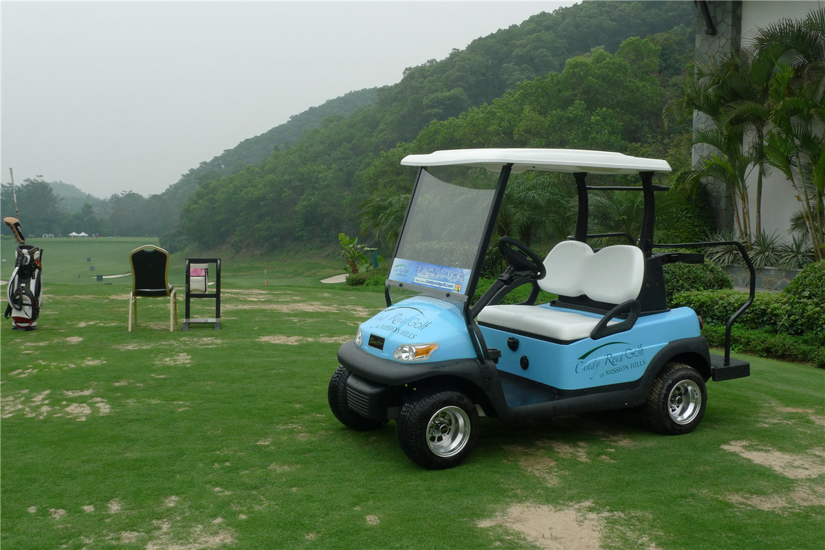Aluminium Chassis 2 Seater Electric Golf Cart for Golf Course