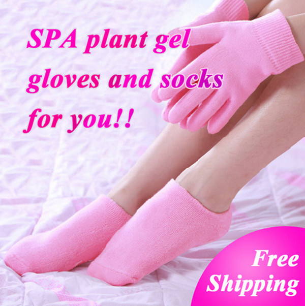 Whiten Skin Hand Moisturizing Treatment Gel SPA Gloves Socks