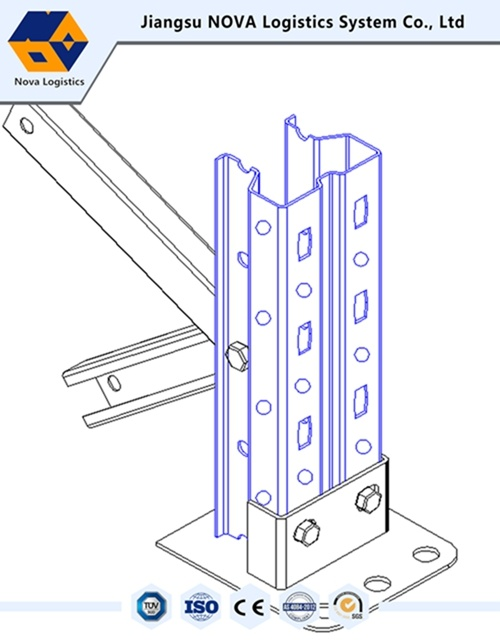 Warehouse Storage Adjustable Steel Pallet Rack