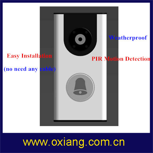 Home Security WiFi Video Door Phone Built in Battery Support IR and Night Vision
