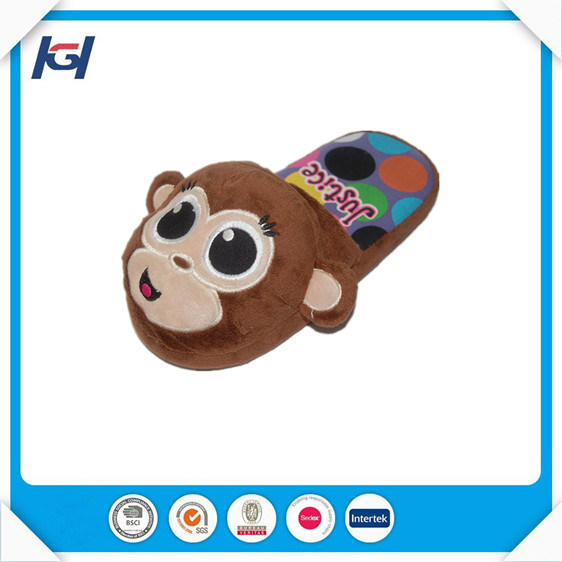 Novelty Cute Monkey Stuffed Animal Feet Slippers for Adults