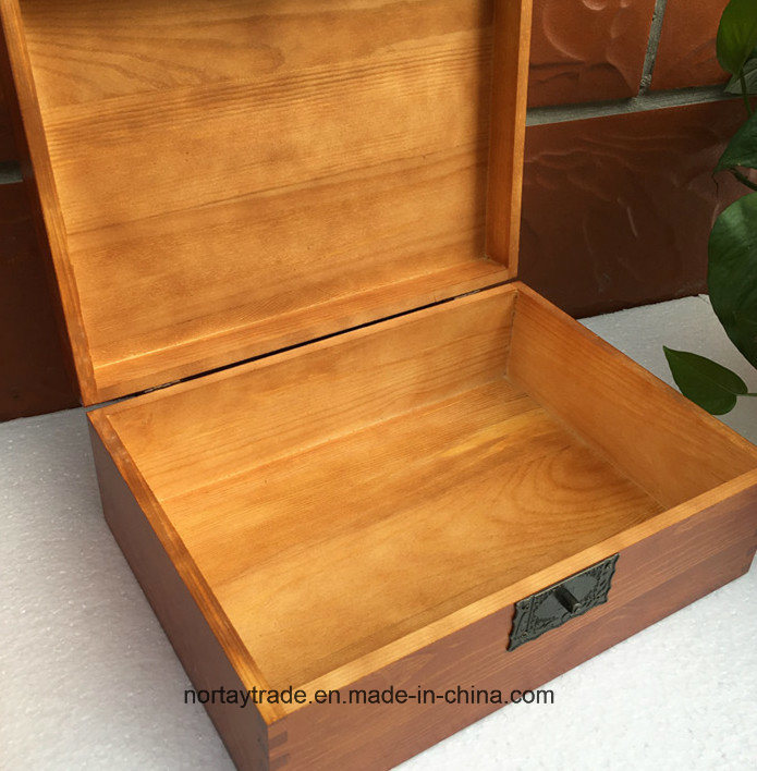 Fine Wood Box with Lock Wood Storage Box for Certificates Medal & Diploma