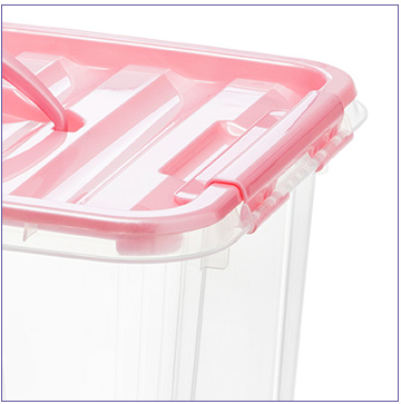 Colorful Transparent Plastic Storage Box Plastic Storage Container for Household Produts