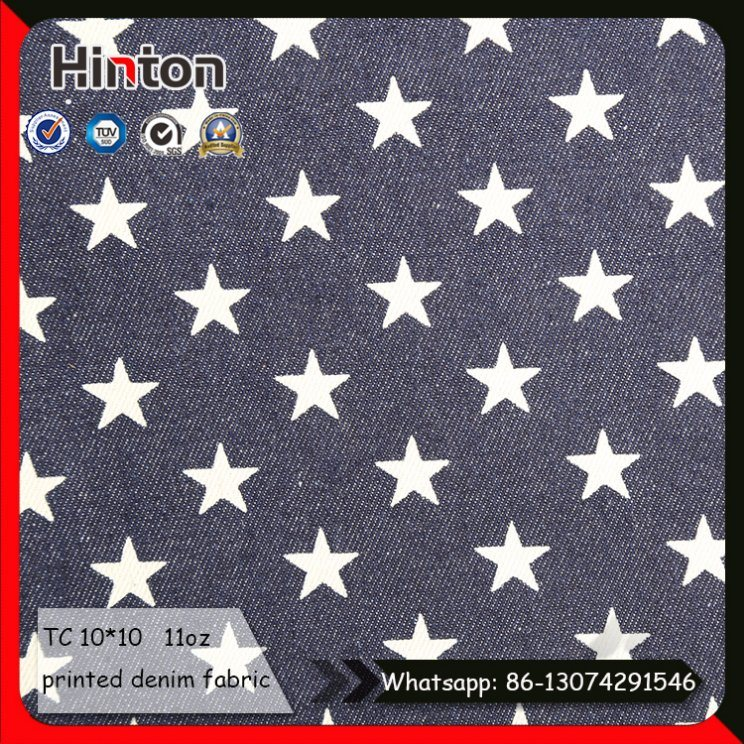 Popular Star Printed Jean Fabric for Children Dress