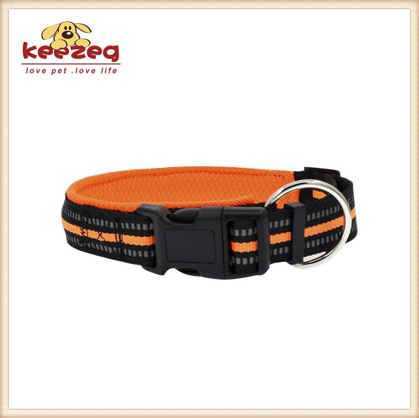 Comfortable/Reflective Nylon Dog Collars with Padding (KC0093)