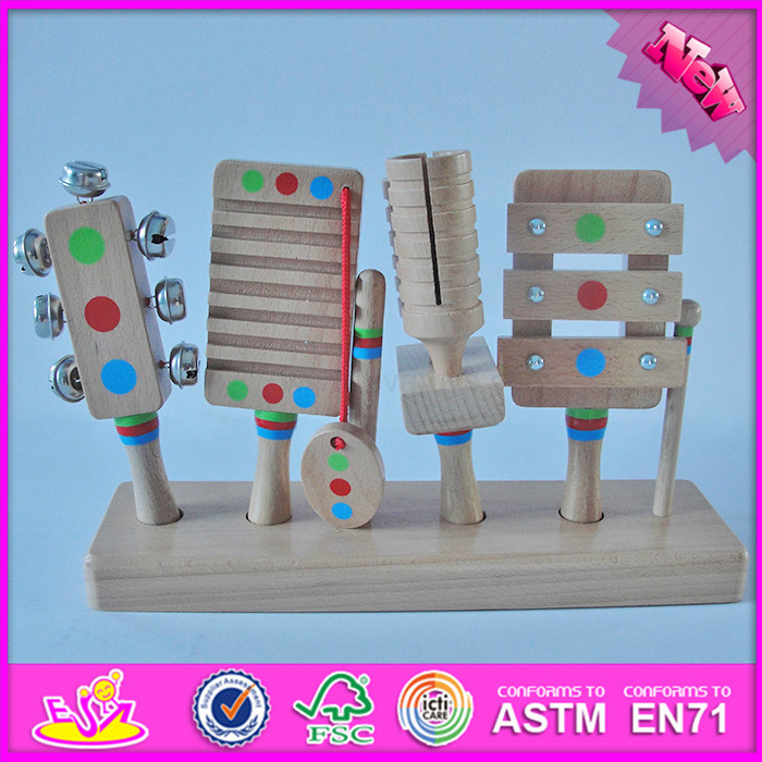 2016 Wholesale Multi-Function Wooden Musical Instruments for Kids, Funny Toy Wooden Musical Instruments for Kids W07A109