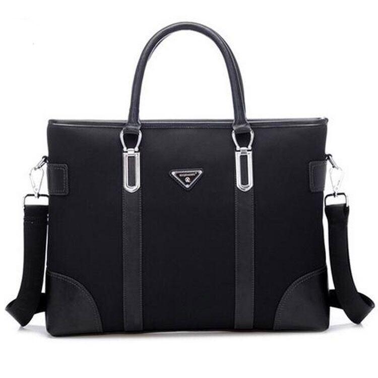 Genuine Leather Men Business Bag Computer Bag
