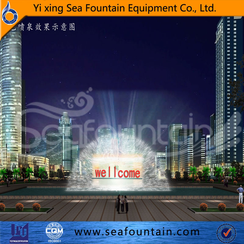 Seafountain Design Urban Construction Multimedia Music Fountain with Water Screen Movie
