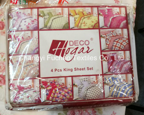 Poly Bedding Sets Textile with 3pieces Quilt and Pillowcases