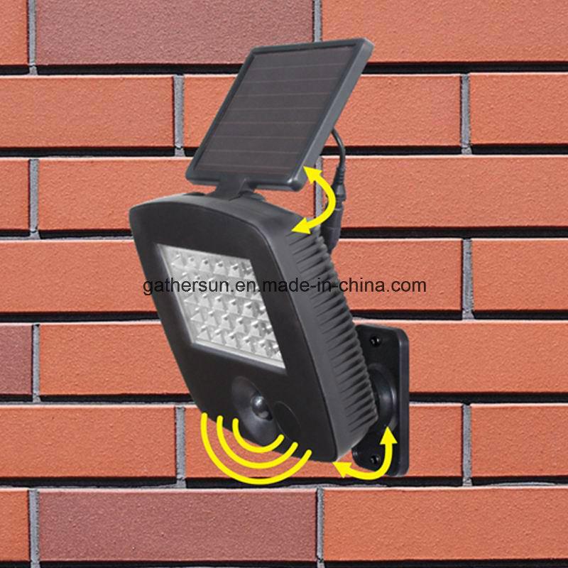 30LED Rotatabale Solar LED Motion Sensor Light for Outdoor Used